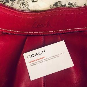 🔥2/$50🔥 Coach Large Raspberry Shoulder Bag